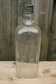 Oude parfum / eau de cologne fles met opdruk Glockengasse 4711 Köln a/Rn