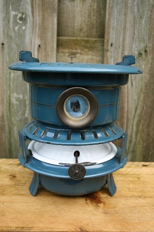1 Pits Petroleumstel.Petroleumstel Kroon Petrolea 1 Pits Blauw Recent Verkocht