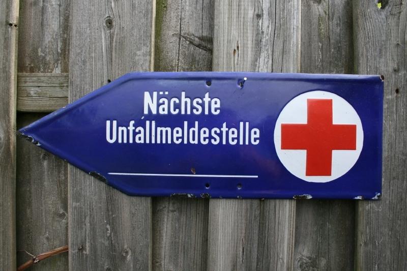 Verkeersbord emaille Rotes Kreuz Nächste Unfallmeldestelle (art.nr. 316)