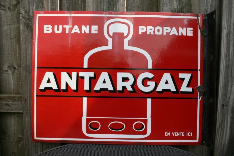 Reclamebord Butane Propane Antargaz dubbelzijdig (art.nr. 315)