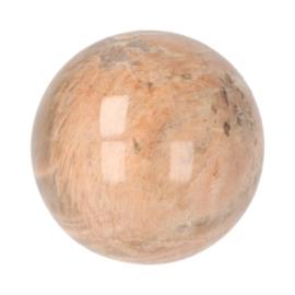 Roze maansteen bol,  diameter 7 cm