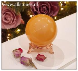 Oranje Calciet bol, diameter 5 cm.