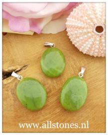 Groene Jade, 925 zilver