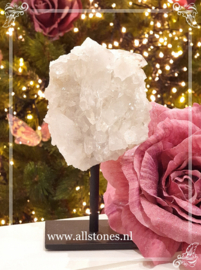Bergkristal op standaard, 12,5 x 7 cm