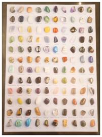 Schatkistje met 15 edelstenen en A4 poster