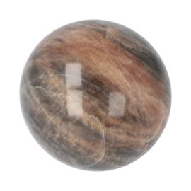 Zwarte Maansteen bol,  diameter 6 cm