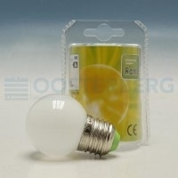 INTERLIGHT LED 230V E27 OPAAL 1W 2700K KOGELLAMPEN
