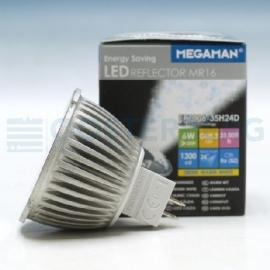 MEGAMAN LED RFL 6W GU5.3  24GR 2800K LED PROFESSIONAL MR16