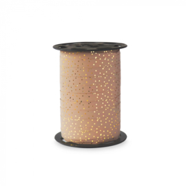 Krullint warm crème dots gold   5 meter