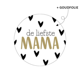Sticker de liefste mama | 5 stuks