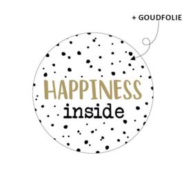 Sticker Happiness inside | 10 stuks
