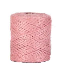 Jute touw roze | 2,5 meter