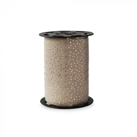 Krullint taupe dots gold   5 meter