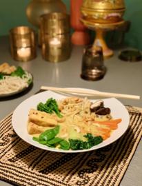 Week 10 | Vegan Singaporese Curry Laksa - pittige noedelsoep