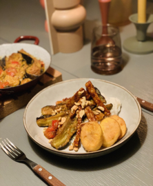 Fluweelzachte aubergine curry - vegan