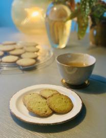Matcha koekjes + jasmijn thee