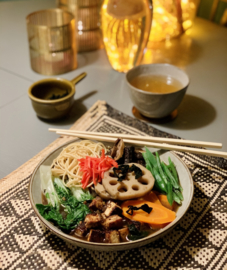 Week 1| Ramen in een vegan miso- shiitake dashi