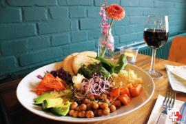 Vegan Salad bowl + toet en drankje