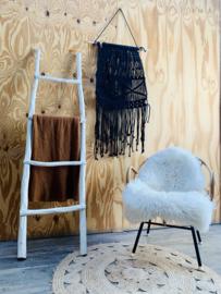 Decoratieve ladder wit