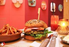 Vegan falafelburger