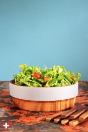 Saladeschaal met grijze rand
