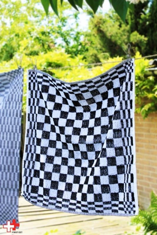 Handdoek zwart wit