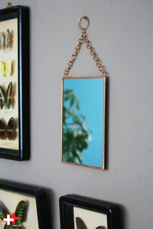 Koper spiegel small