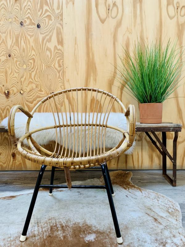 Rohe Noordwolde rotan fauteuil ronde rug