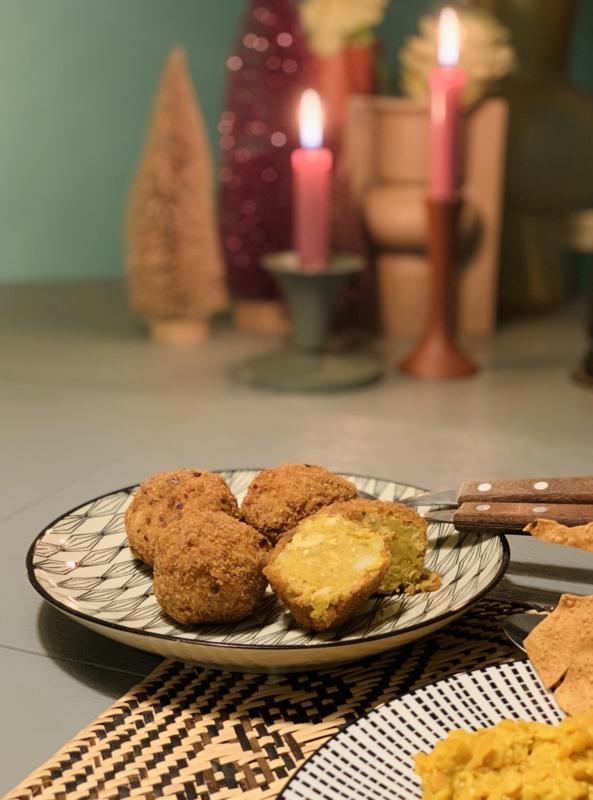 Portie Jackfruit/aardappel curry ballen (2 stuks)