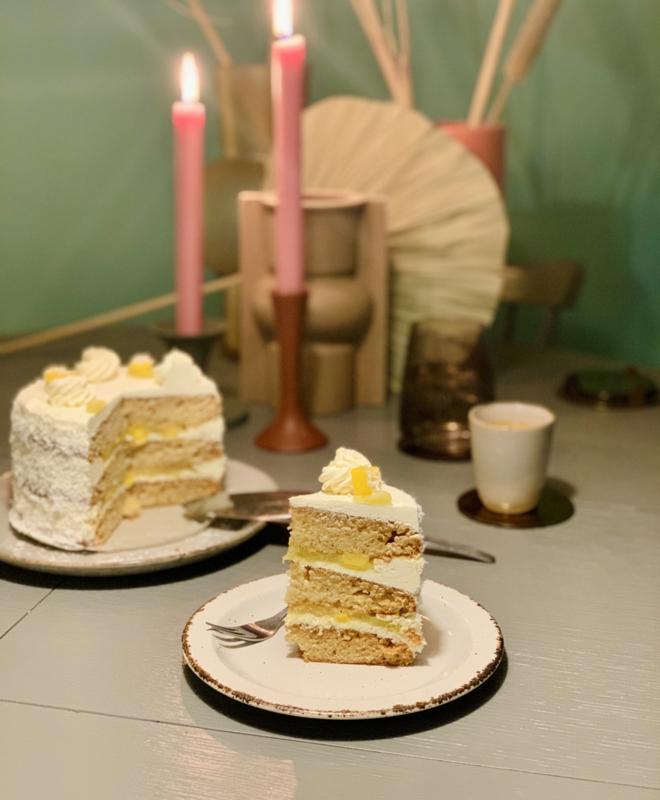 'Thaise' vanille cake - vegan