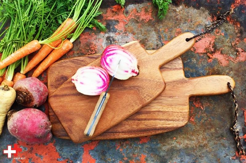 Acaciahouten snijplank | snackplank met handvat small
