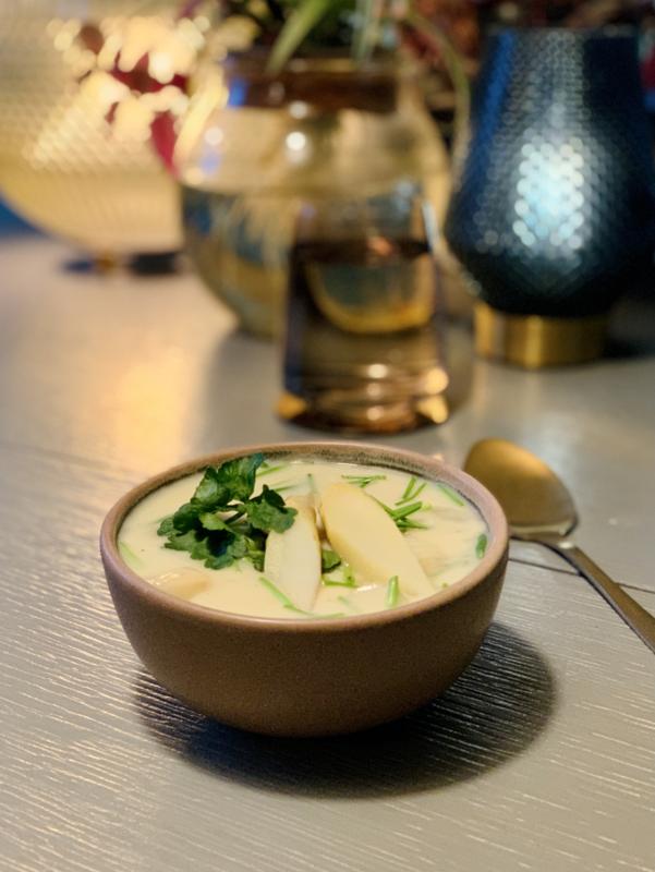Witte aspergesoep - vegan