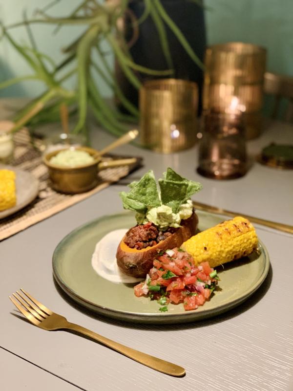 Week 4  Mexicaanse zwarte bonen chili  - vegan