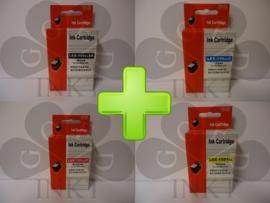Lexmark 150XL Zwart + Cyaan + Magenta + Geel