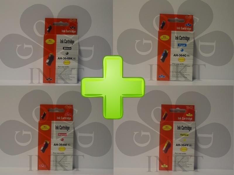 HP 364XL Set Zwart + Cyaan + Geel + Magenta
