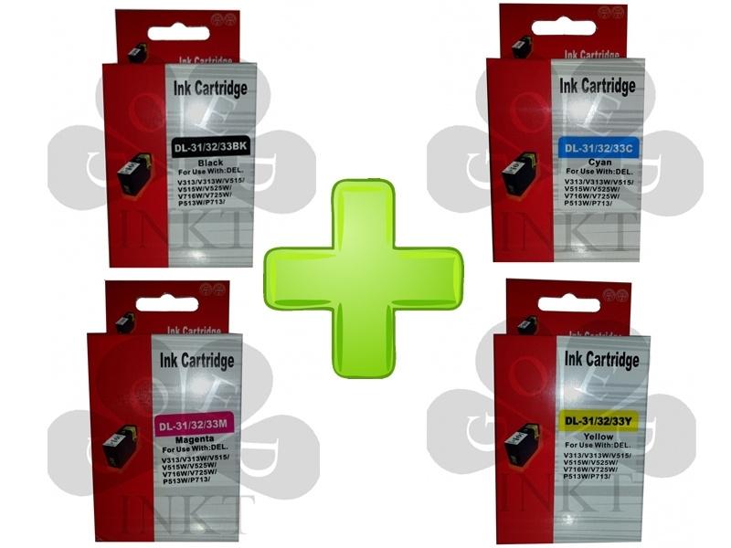 Dell 31 / 32 / 33 Set Black + Cyan + Magenta + Yellow