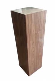 Noten houten sokkel Glans