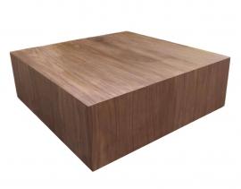 DecoBlock Noten salontafel 90x90x30 cm