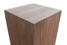 Notenhouten sokkel Glans 30x30x100 cm