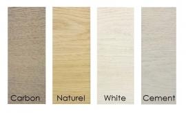 Kleurstalen set in Eiken afwerking Paste Wax