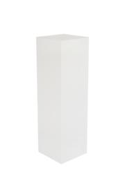 Wit geborsteld houtnerf zuil 35 x 35 cm