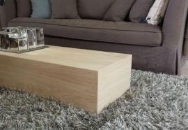 DecoBlock Eiken salontafel 35 cm hoog