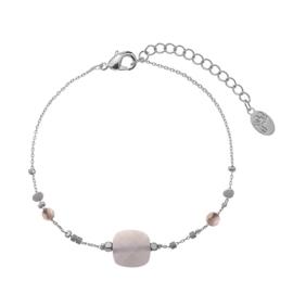 Armband beads grijs