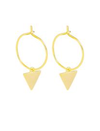 Creolen driehoek goud