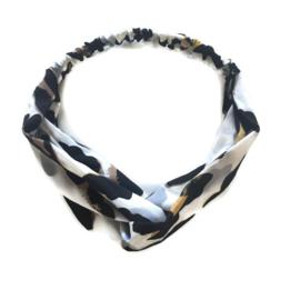 Haarband luipaard wit