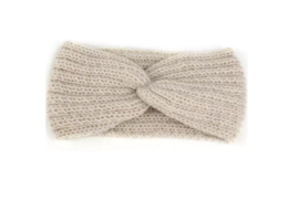 Hoofdband winter knot beige