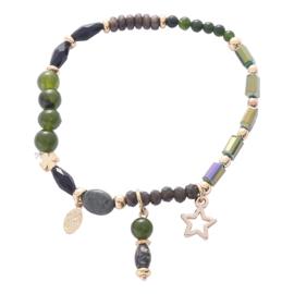 Armband star groen