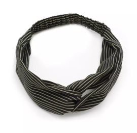 Haarband streepjes zwart