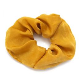 Scrunchie haarelastiek geel