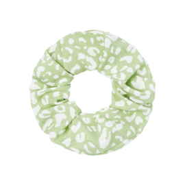 Scrunchie haarelastiek luipaard mint
